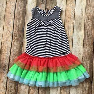 Deux Par Deux Rainbow Tulle Dress